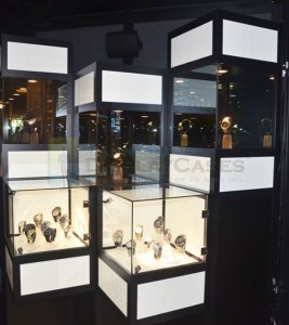 Pedestal Display Cases With Led Lighting